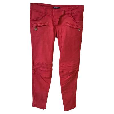 b5441d0419340a Balmain Jeans aus Baumwolle in Rosa   Pink