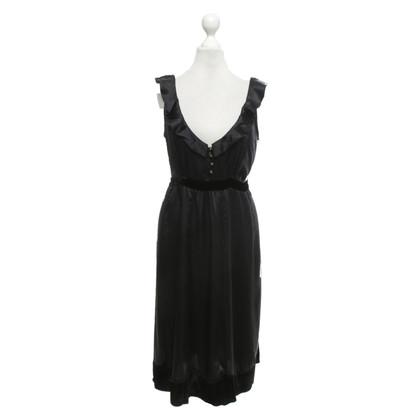 Sandro Silk dress in black