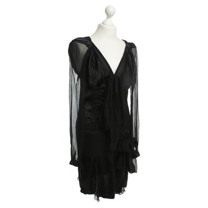 Jean Paul Gaultier zijden jurk met veel details