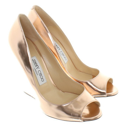 Jimmy Choo Roségoldfarbene pumps