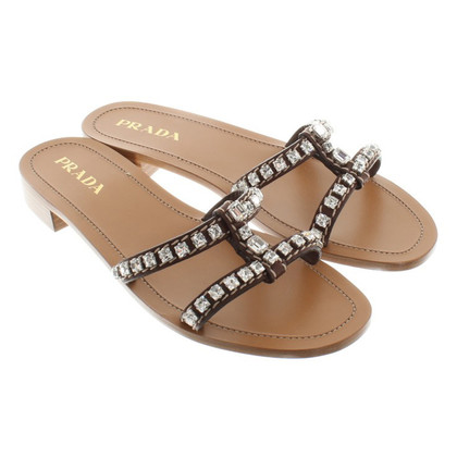 Prada Sandals with gemstones