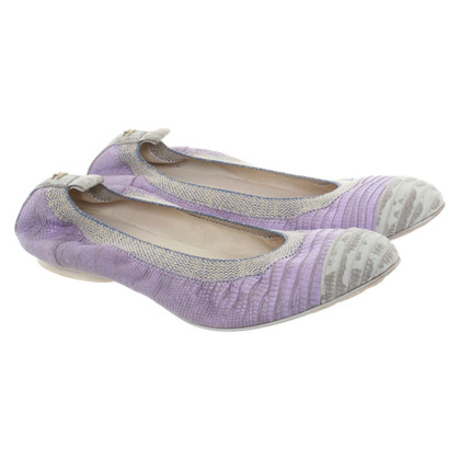 Chanel Phyton leather ballet flats