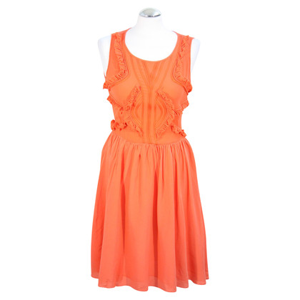 Reiss Seidenkleid in Orange