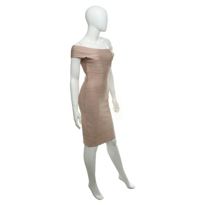 Hervé Léger Dress in Nude