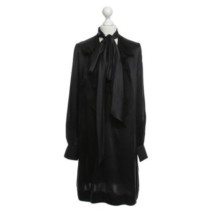 Givenchy Abito in seta con volant in chiffon