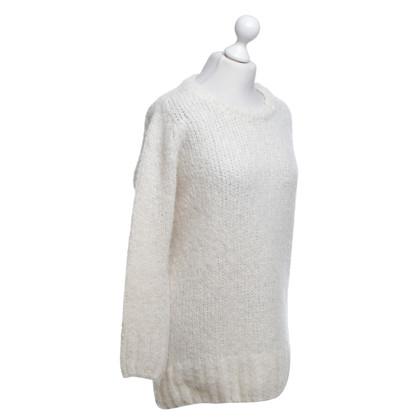 American Vintage Pull tricoté en crème blanche