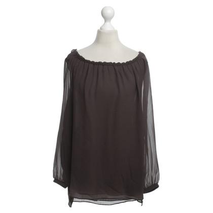 Schumacher Silk blouse in brown