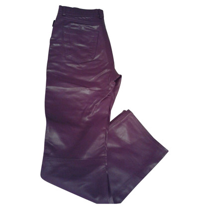 Gianni Versace Pantaloni in pelle