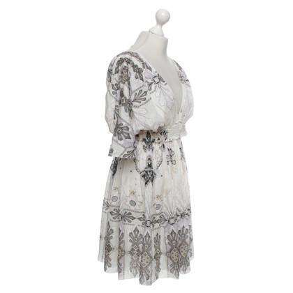 Roberto Cavalli Silk dress with pattern