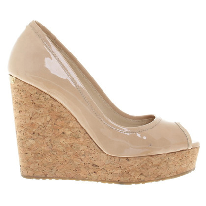 Jimmy Choo Lakleer in beige Wedges