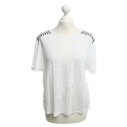 Maje top in white with rivets