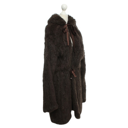 Plein Sud Fur coat in brown