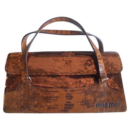 Miu Miu Handtasche aus Eidechsenleder
