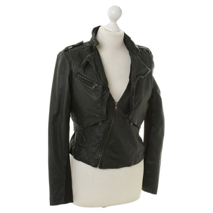 Rich & Royal Leather jacket with vest