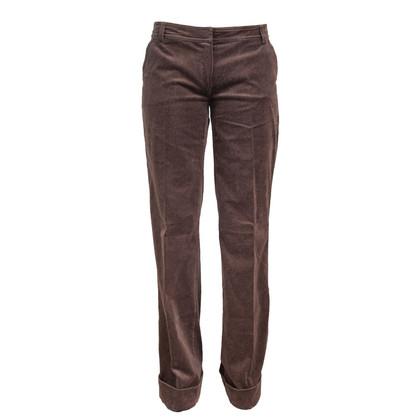 Maurizio Pecoraro  Brown Velvet Pants
