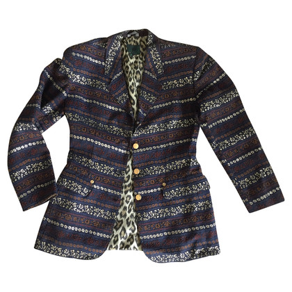 Jean Paul Gaultier Blazer patterned blue/gold/cinnamon