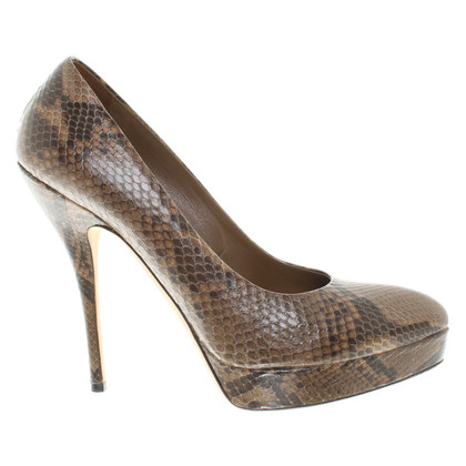 Gucci pumps of reptile leather