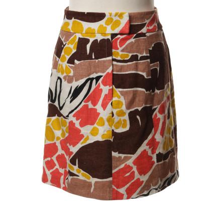 Tibi Rock mit floralem Print
