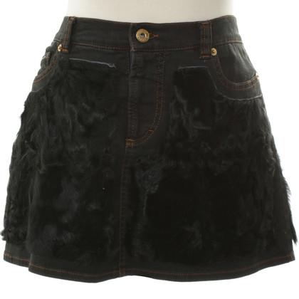 D&G Mini skirt with rabbit fur trim