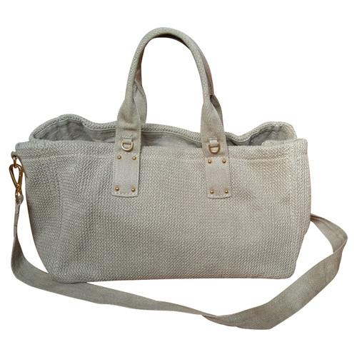 ae45d7255865 Prada Shopper Cotton in Taupe - Second Hand Prada Shopper Cotton in ...