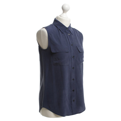 Equipment Zijden blouse in blauw