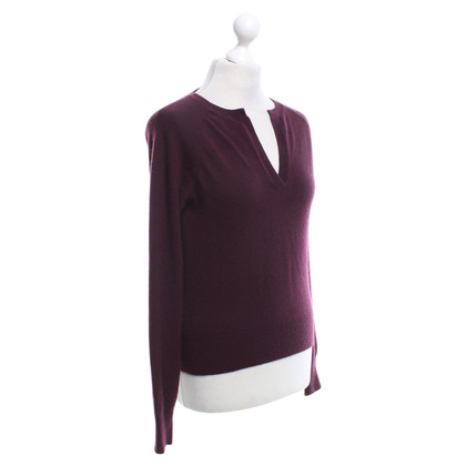 Allude Cashmere sweater in Bordeaux
