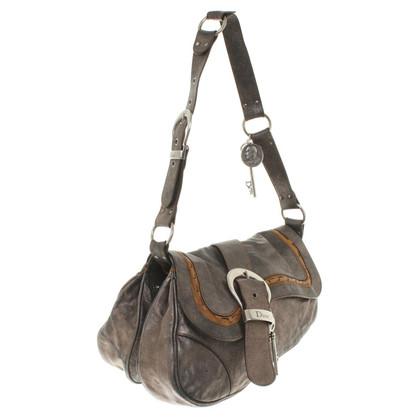 "Christian Dior ""Gaucho Saddle Bag"" in metallic look"