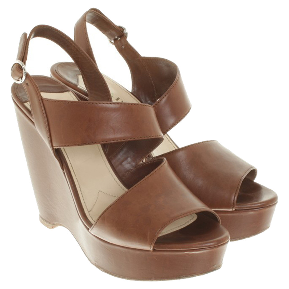 Prada Zeppe a Brown