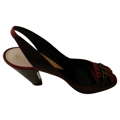Armani Slingback Pumps in Maroon