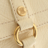 Céline Leather handbag in cream