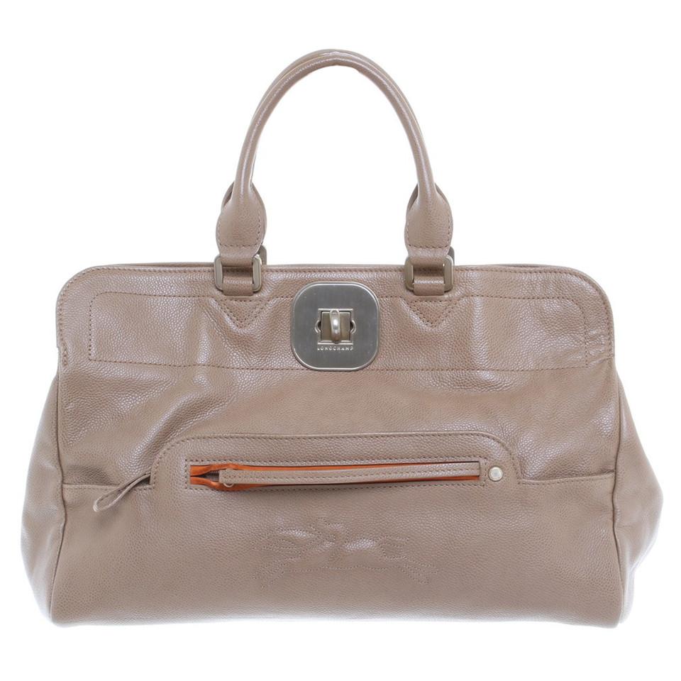 longchamp handtasche in beige second hand longchamp. Black Bedroom Furniture Sets. Home Design Ideas