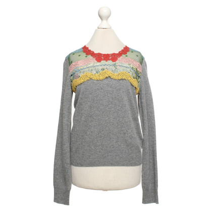 Valentino Sweater with lace insert