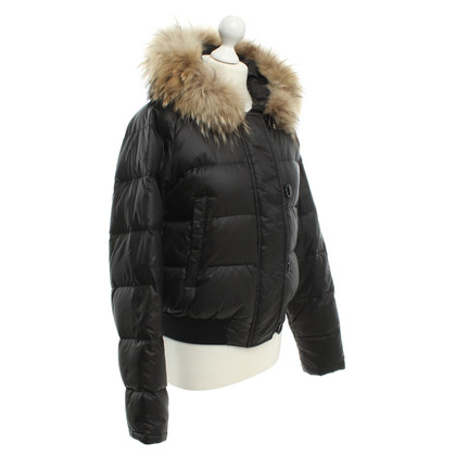 Moncler Down jacket with fur trim