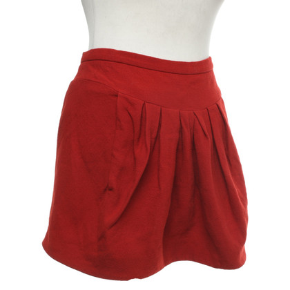 Sonia Rykiel skirt in red