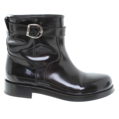 Dolce & Gabbana stivali di pelle di brevetto