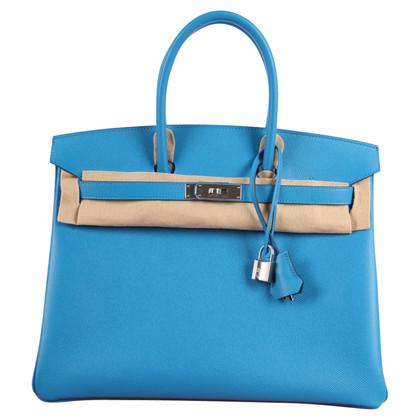 "Hermès ""Birkin Bag 35 Epsom Leder Bleu Sansibar"""