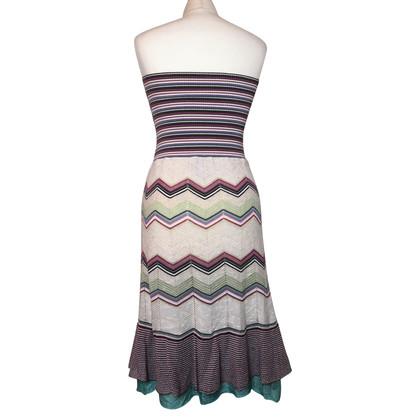 Missoni Bandeau-jurk met patroon