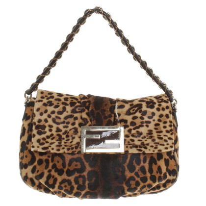 Fendi Shoulder bag with leopard pattern