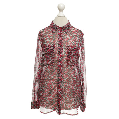 Equipment Silk blouse with print