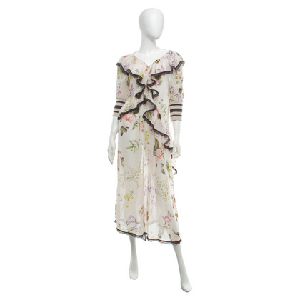 Twin-Set Simona Barbieri Floral dress with flounces