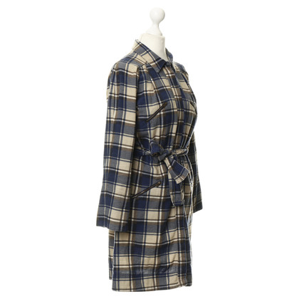 See by Chloé Cotton dress with checked pattern