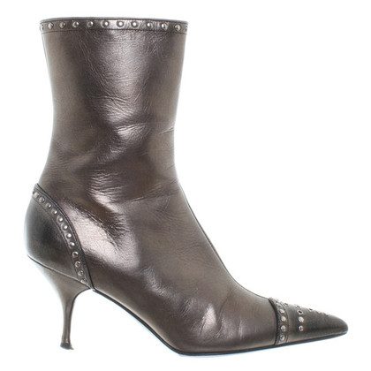 Prada Copper ankle boots