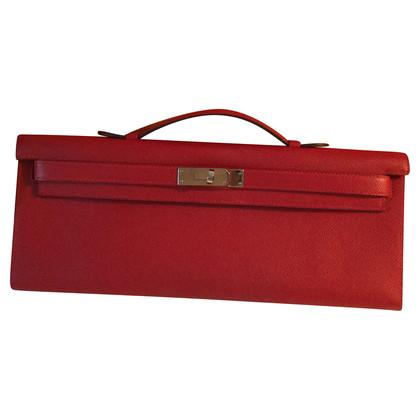 "Hermès ""Kelly clutch"" in Orange red"