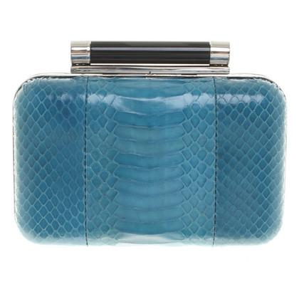 Diane von Furstenberg turquoise clutch