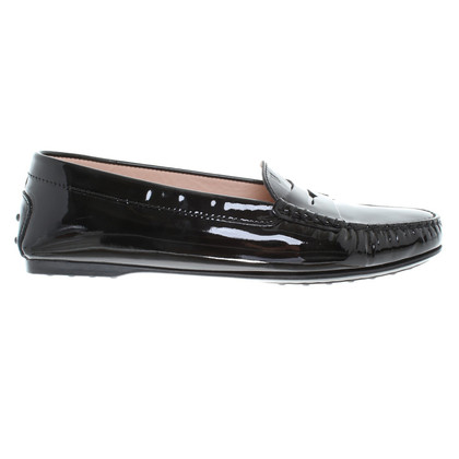 Tod's Patent leather loafers in zwart