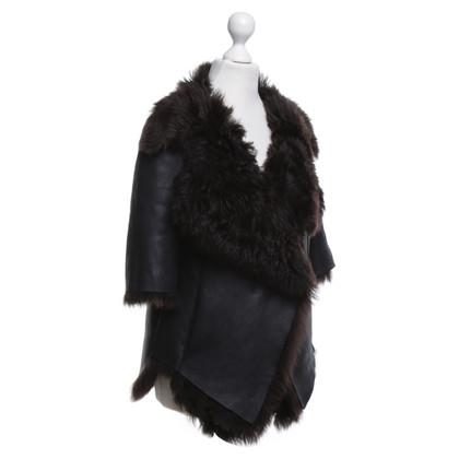 Marni Lambskin jacket in dark blue