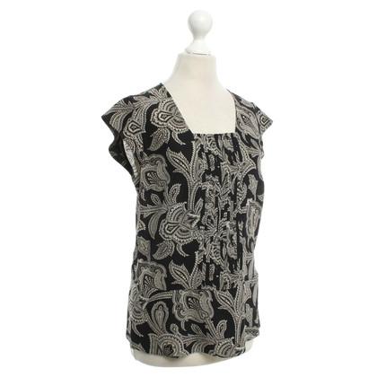Etro Zijden blouse in zwart / Beige