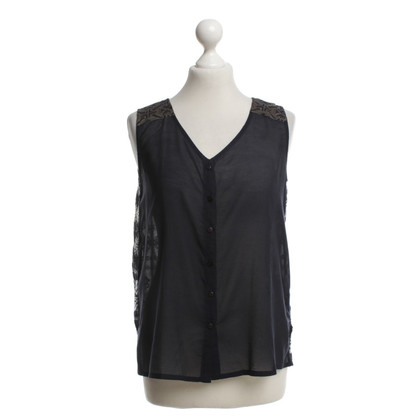Bogner Sleeveless blouse with embroidery