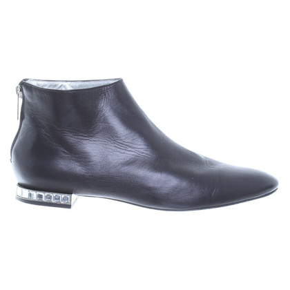 Jourdan Black leather ankle boots