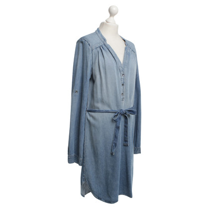 Velvet Stonewashed dress in blue